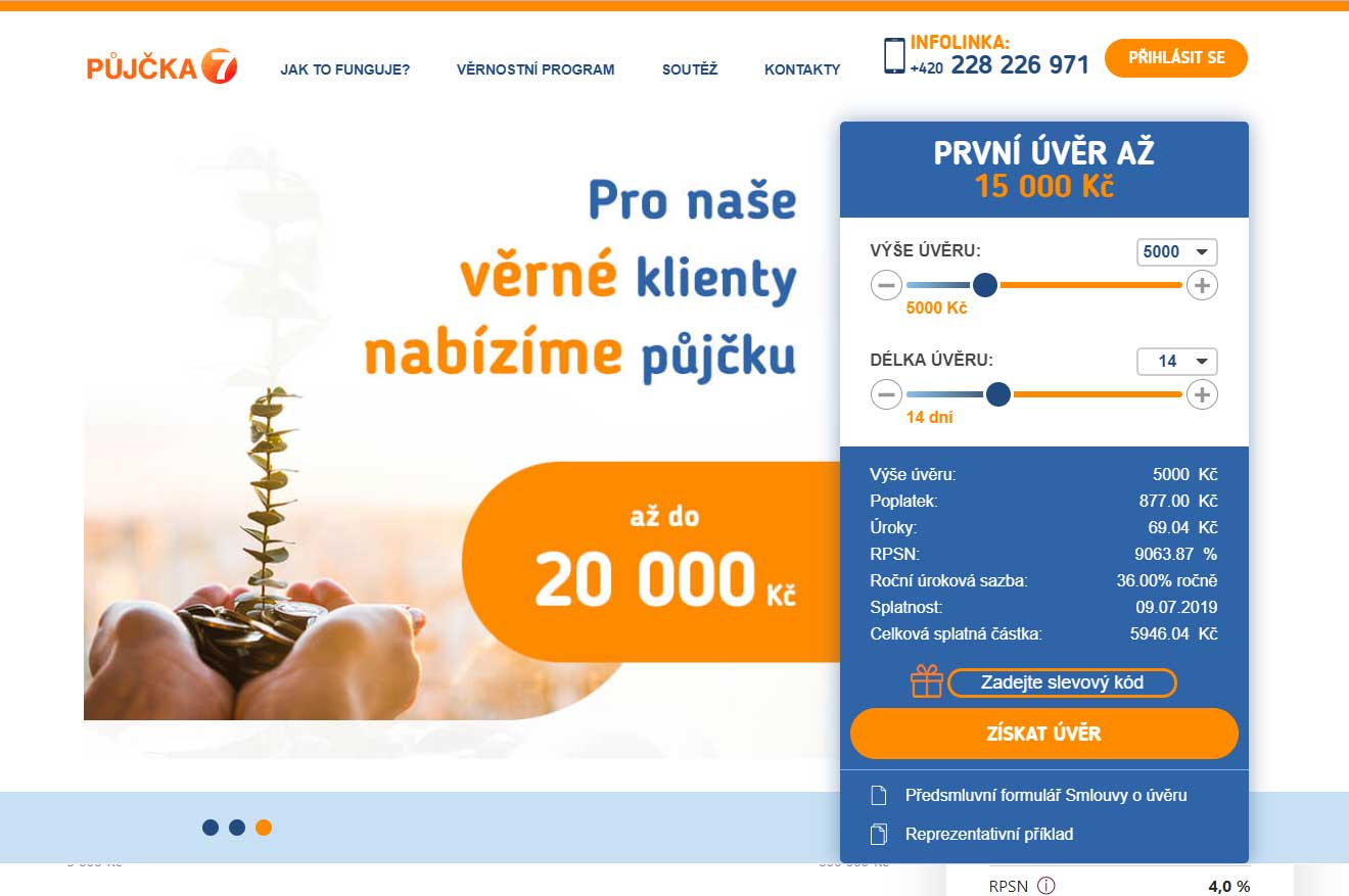 Web Půjčka 7 - Trade International s.r.o.