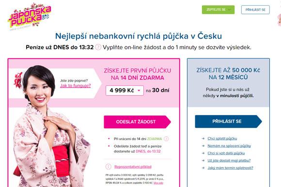 Společnost Home Credit a.s. - Japonská půjčka