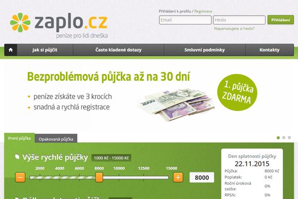 Společnost Zaplo Finance s.r.o.
